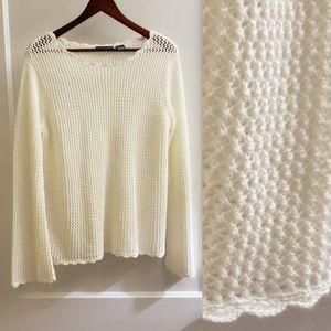 Relativity   M long sleeve open knit sweater EUC